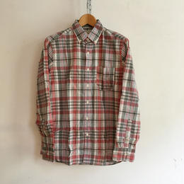 "J.Crew ""Indian Madras"" B.D Shirt  White×Red"