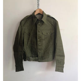 "1953 Royal Army Issue ""Green Denim"" Battle Dress Jacket Dead Stock"