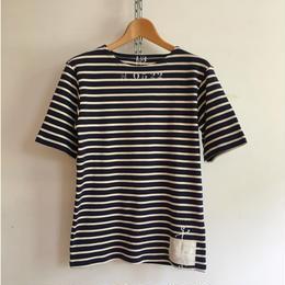 Stenciled Breton Shirt Made in France  Navy×White