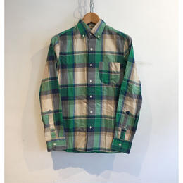 "J.Crew ""Indian Madras"" B.D Shirt Green×Beige"