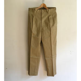 50's Dead Stock French Army Chino Trousers