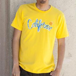 <ハンドペイントTシャツ!!> XT-CALI  YELLOW