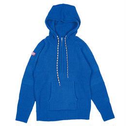 XNP-BLOCK BLUE(ライン編み変えニットパーカー)