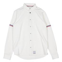 XLS-SWITCH OFF WHITE(コーデュロイ&ワッフル切り替えシャツ)