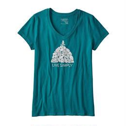 【39117】W's Live Simply Summit Stones Cotton V-Neck T-Shirt(通常価格:4536円)