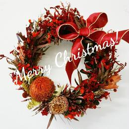 一点限定!赤色のおしゃれな大きいリース クリスマス red12