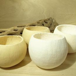 ベルカップ白&ナチュラル 天然素材  4個セット
