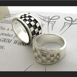 「Ichimatsu with stone Ring」市松&石MIX