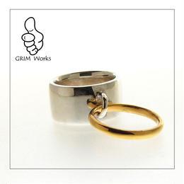 Moi Ring  SV×k18メッキ