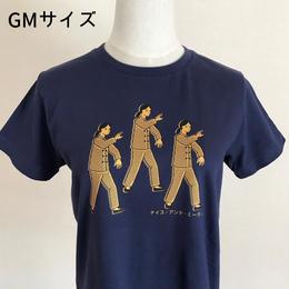 太極拳ガールTシャツ_Navy / Yellow