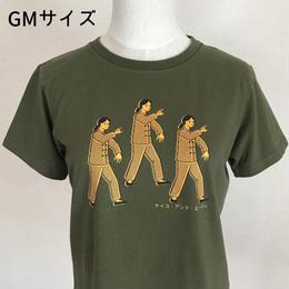 太極拳ガールTシャツ_Olive / Yellow