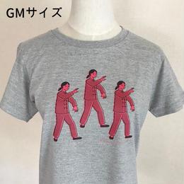 太極拳ガールTシャツ_Gray / Pink