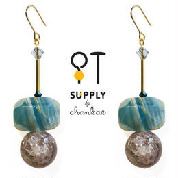 Jewelry kit /二種類の天然石ピアス[chankae]