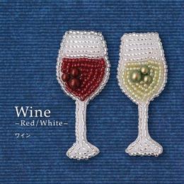 《Wine》 オトナのビーズ刺繍ブローチ キット[MON PARURE]