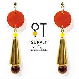 Jewelry kit /ヴィンテージの円錐ビーズピアス[chankae]