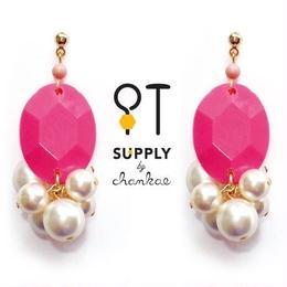 Jewelry kit /ヴィンテージビーズ&パールのピアス[chankae]