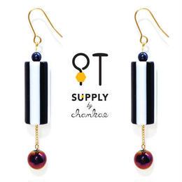 Jewelry kit /ヴィンテージ ストライプビーズのピアス[chankae]