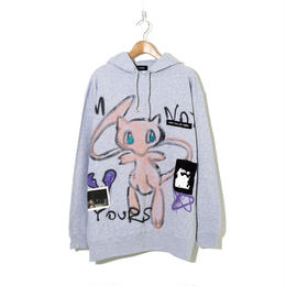 【期間限定】Hand Painted Over Hoody (Glitter Ver.) / Gray / No.1
