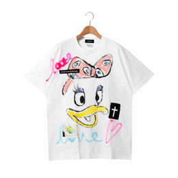 Hand Painted T-sh / White / No.3
