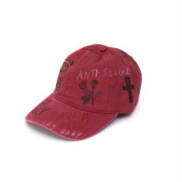 Hand Painted Cap / No.1