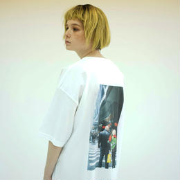 Photo Print Super SizeT-shirt / White