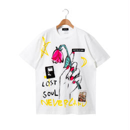 Hand Painted T-sh / White / No.1