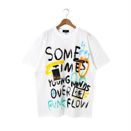 Hand Painted T-sh / White / No.8