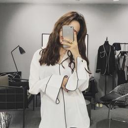 ナイトウェアルックシャツ ホワイト