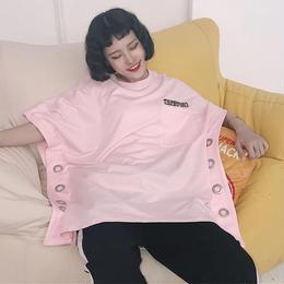 ビッグシルエットリングワンピース ピンク