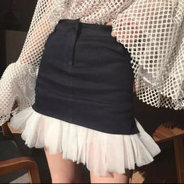 チュールタイトミニスカート