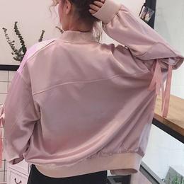 シルクリボンジャケット ピンク