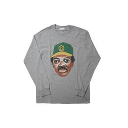 ball park  long sleeve tee  front-GREY  (TAMANIWA ×SHUNTARO TAKEUCHI)