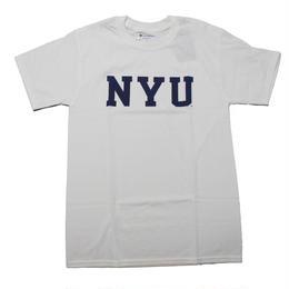 NYU CHAMPION TEE  WHITE