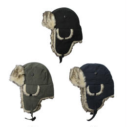 G&S ORIGINALS microfiber faux fur aviator hat
