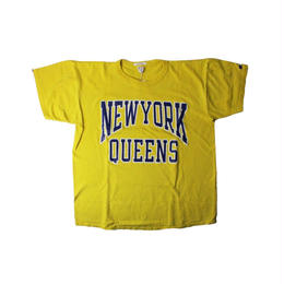 COPY CAT   -コピーキャット-  OLD SHORT SLEEVE TEE -NEWYORK QUEENS  -YELLOW