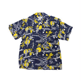 AVANTI ALOHA SHIRTS -  Hula Moon  silk aloha shirt  -  M size