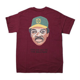 ball park pocket back print Tee  MAROON (TAMANIWA ×SUNTARO TAKEUCHI)