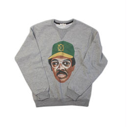 ball park  sweat FRONT -GREY  (TAMANIWA ×SHUNTARO TAKEUCHI)