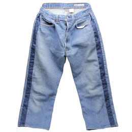Sunny side up (サニーサイドアップ) ユーズドリメイク SIDE LINE DENIM PANTS BLUE type 2 - size 2 -