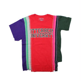 Rebuild by Needles (リビルドバイニードルズ) 7 Cut Tee College RED ⑤ - size M