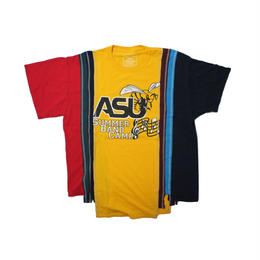 Rebuild by Needles 7 Cut Tee College Wide YELLOW  ③ - onesize