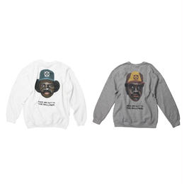 ball park  back print sweat  (TAMANIWA ×SHUNTARO TAKEUCHI)  -WHITE / GREY