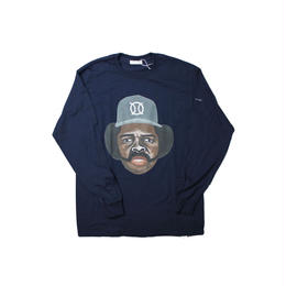 ball park  long sleeve tee  front- NAVY  (TAMANIWA ×SHUNTARO TAKEUCHI)