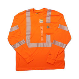 Carhartt カーハート HV Long Sleeve Class 3 Tee ORANGE  - size M -