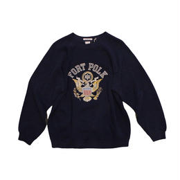 COPY CAT   -  OLD LONG SLEEVE SWAET FORT POLK NAVY - size ASORT