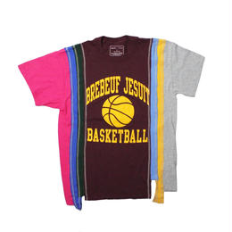 Rebuild by Needles (リビルドバイニードルズ) 7 Cut Tee College WINE ⑨ - size M