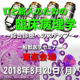 VTと新人のための臨床病理学【血液化学検査の基礎~臨床応用】東京:2018年8月20日(月)