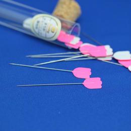 チューリップ 針ものがたり    まち針 チューリップ 薄地用 (0.45㎜×48.0㎜) 15本入り