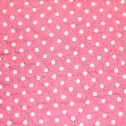 YUWA水玉キルト(ピンク) 【10cmあたり】