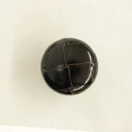 革ボタン(200-23-09)黒 23㎜  1個